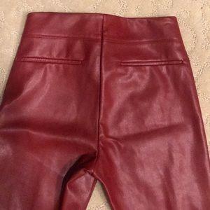 Zara Pants - Zara trafaluc collection leather pants